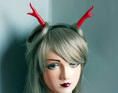 Cunene Red glitter Deer Antlers Headpiece Fascinator