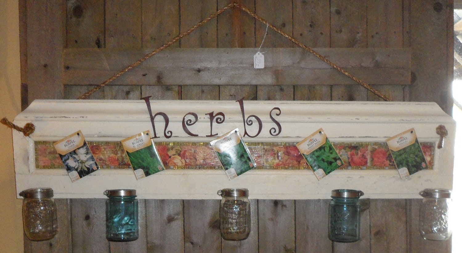 Items Similar To Indoor Outdoor Antique Reclaimed Herb