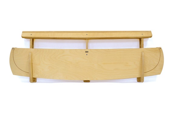 Noah's Ark Wooden Rail and Organizer for Kids' Beds
