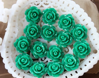 50% off - 10 pcs Wholesale Beautiful  Colorful   Flower Resin Cabochon   - 10mm -(CAB-AX-52)