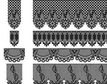 Lace Clipart Clip Art and Lace Borders - Commercial and Personal