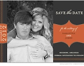 PRINTABLE - Wedding Save the Date Photo Card - Custom colors to match your wedding