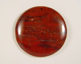 Large Red Breciated Jasper Focal Pendant bead