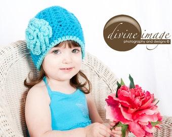 Baby Girl Crochet Hat, Crochet Girl Hat, Toddler Girls Hat, Girl Hat with Flower, Crochet Child Hat, Hats for Girls