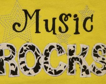 Music Rocks shirt teacher shirt student shirt