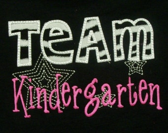 Team Kindergarten School Shirt Teacher Shirt Student Shirt