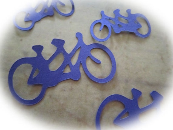 Tandem Bicycle Purple Wedding Confetti Die Cut Bike For Two Scrapbook Card Making Party Decor TeamScrapbookNinjas