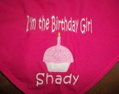 Personalized Birthday Dog Bandana with Cupcake Applique...Custom Options seen in pics and listing