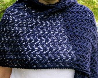Knit Wrap Pattern:  Very Open Lace Shawl Knitting Pattern