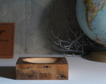 Low Profile Bowl // Reclaimed Old Growth Douglas Fir -All Natural Wax Finish