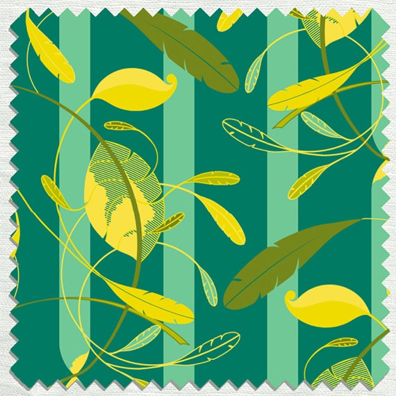 Fabric in Featherleaf Pattern Pear color