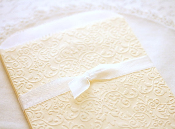 Gift Bags Embossed Cream Antique Lace Inspired Paper Gift Bags: Set of 10 Glassine Lined Candy Buffet Bags Wedding Favors Baby Showers