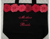 """Mother of the Bride & Groom """"Set of 2"""" Wedding party tote bags Bridal party mother of the bride gift idea"""
