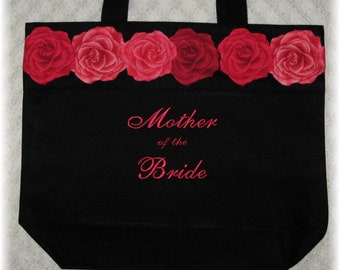 "Mother of the Bride & Groom ""Set of 2"" Wedding party tote bags Bridal party mother of the bride gift idea"