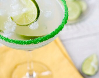 Colored margarita salt - green margarita salt for margarita glasses