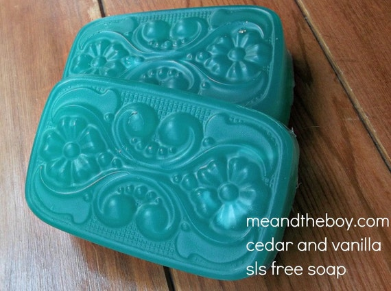 SALE Cedar Vanilla Soap SLS FREE 100% organic essential oil Vegan 5oz