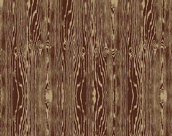 Woodgrain in Bark  JD42 - Joel Dewberry - Aviary 2 -  Free Spirit Fabric  - By the Yard