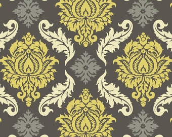 Joel Dewberry  - AVIARY 2 - Damask in Granite JD43 - Free Spirit Fabric  - By the Yard