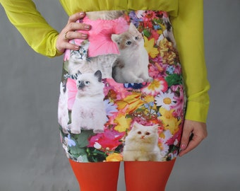 Kitty Garden Party Mini Skirt