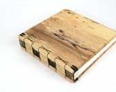 unique handmade journal  or wedding guest book - spalted maple  wood guest book - ready to ship