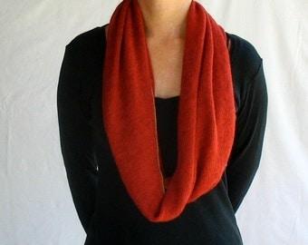 4in1 wrap infinity scarf cowl hoodie in brick red