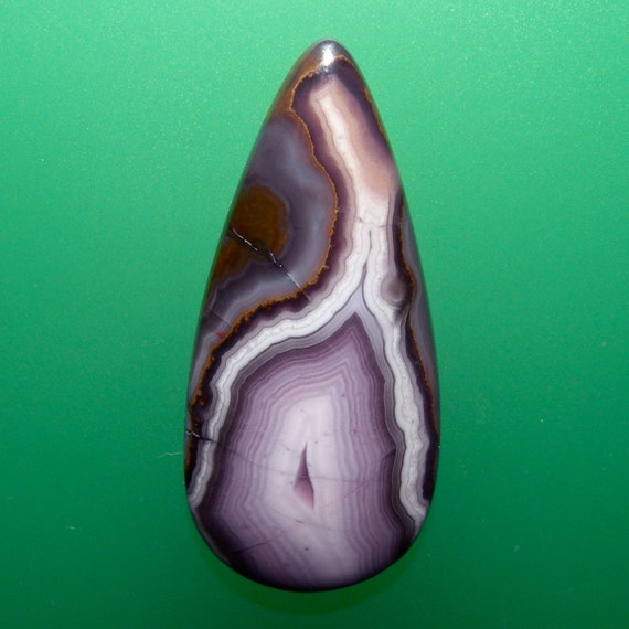 Purple Passion Banded Agate 100% Natural Hand Cut Cabochon from Mexico, free U.S. shipping