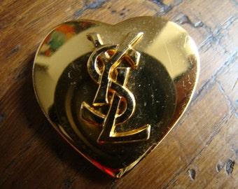 YSL Yves Saint Laurent Heart Brooch