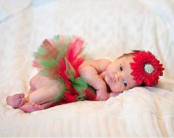 Newborn Christmas Tutu - Ready To Ship