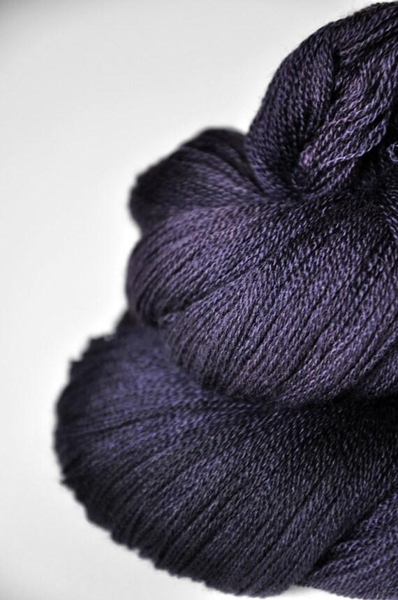 Black Iris OOAK - Merino/Silk/Cashmere Yarn Fine Lace weight