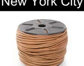 4mm Natural Beige leather Cord - 10 yard (9.14 meter) CR0400NAT-10