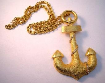Les Bernard oversize Anchor pendant necklace