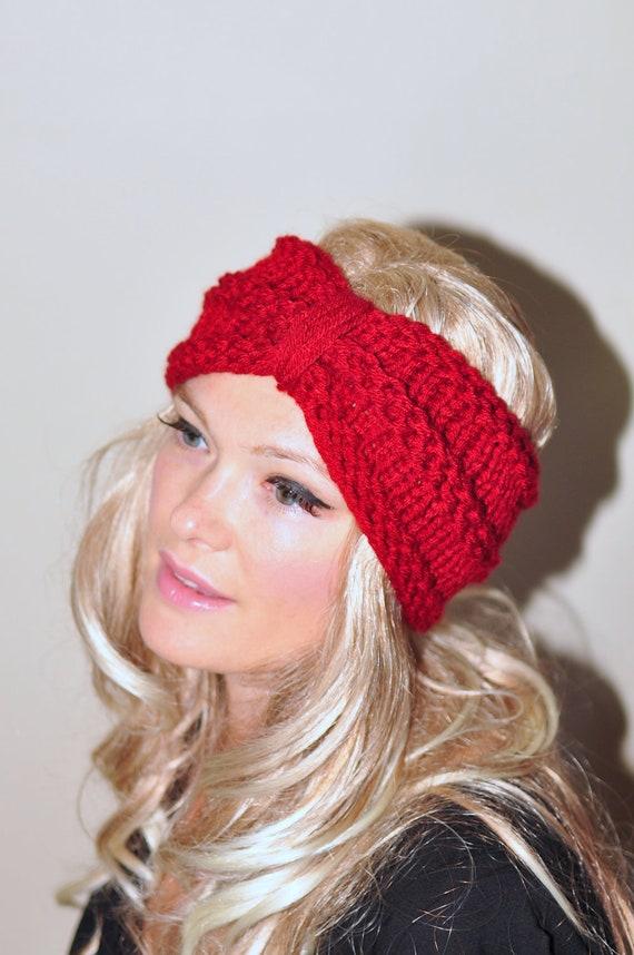 Items similar to Turban Headband Crochet Head wrap Knit ear warmer Earwarmer ...