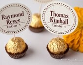 Unique ***ONE-OF-A-KIND on the world wide web*** Wedding Reception Ferrero Rocher Chocolate Truffles Escort Cards place card party favors
