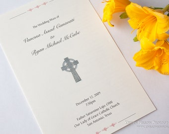 Catholic church wedding booklet template mini bridal for Mass booklet templates