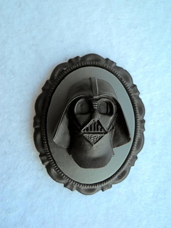Long Live Vader Cameo Brooch, grey