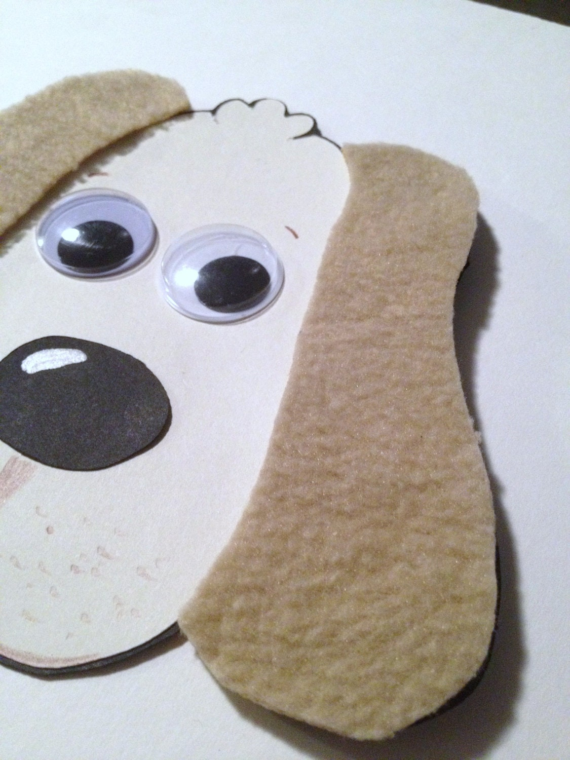 Paper dog with fuzzy ears craft kit for kids by mimiscraftshack