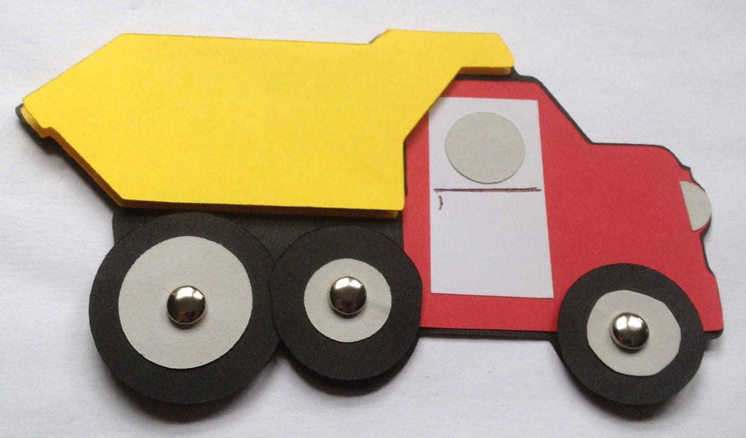 Dump truck vehicle craft kit for kids birthday party favor for Car craft for kids