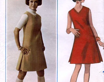 Butterick 4719 Vintage 60s Misses' Dress or Jumper Sewing Pattern - Uncut - Size 16 - Bust 38