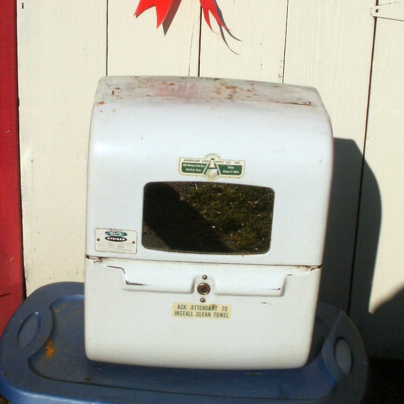 Vintage Industrial Cabinet Cloth Roll Towel Dispenser Man