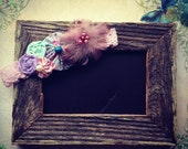 Vintage Inspired Flower Cluster Newborn Headband