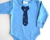 Sale - Baby Tie Onesie ,Baby Boy Applique Tie Onesie, Little Man Necktie Onesie