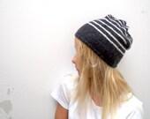 Blue Stripped Knit Hat