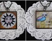 Reversible Pendant... Freya/Shine 2 inch