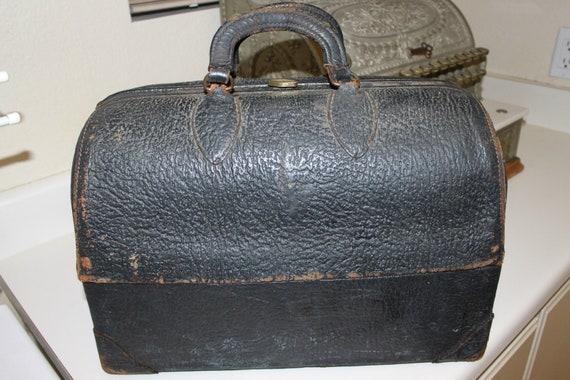 Vintage Doctor Bag, Steampunk,  Schell Emdee Top Grain Cowhide Doctor's Bag or Case, Extra Large Travel Bag