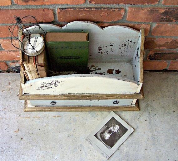 Vintage Wood Shelf and Drawer