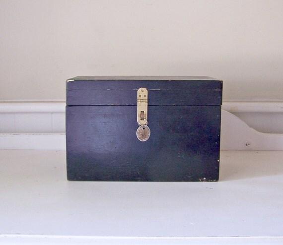 Vintage Black Box Hidden Compartment