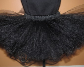 Solid Black  tutu- newborn to 4T