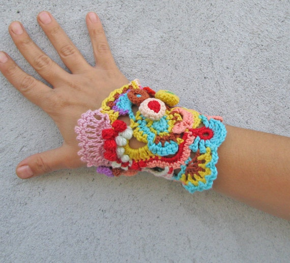 Crochet Cuff Bracelet Free Pattern Image Collections Knitting