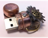 Steampunk 16GB USB Flash Drive Model 103 in a Tin Box, Extra small