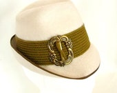 SALE Vintage Salzburger Hat Winter White Olive Adult Small Child Large